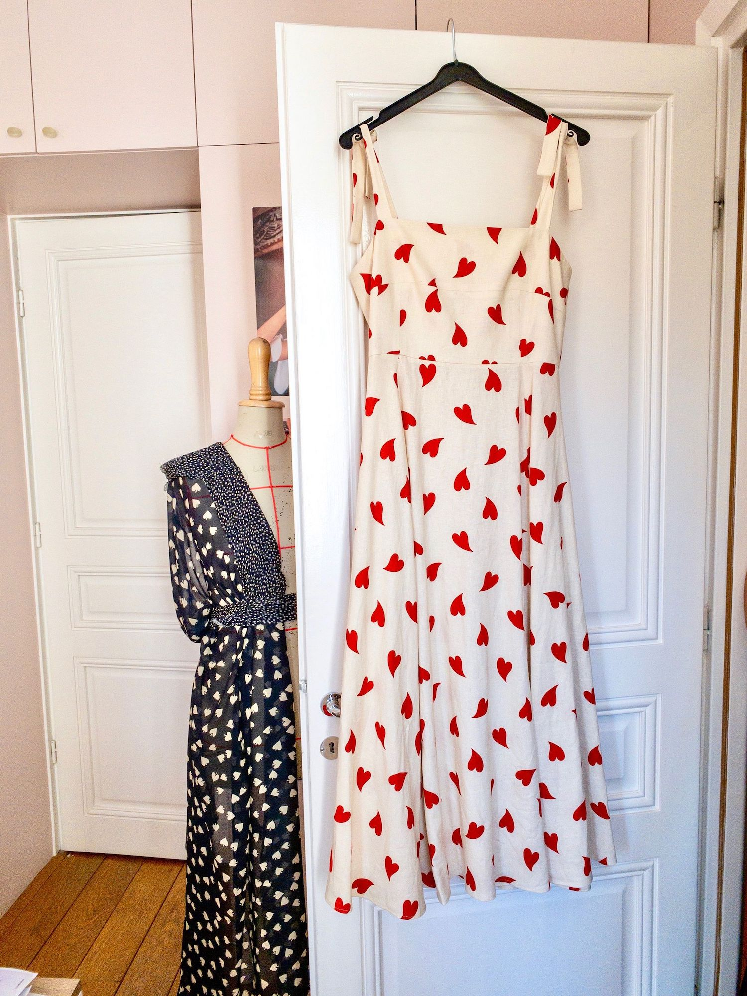 Mirae Red heart print dress