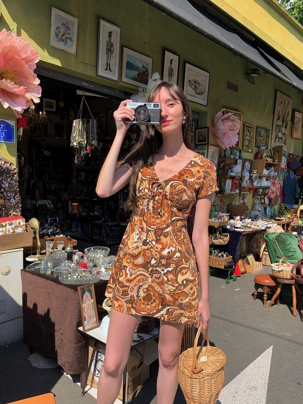 Vintage dress at the Puces Saint Ouen
