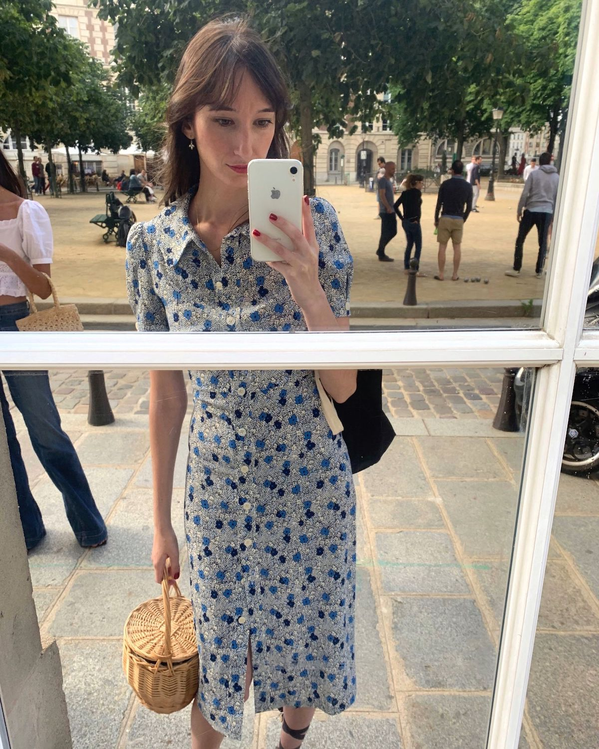 Rouje Paloma dress in Place Dauphine, Paris