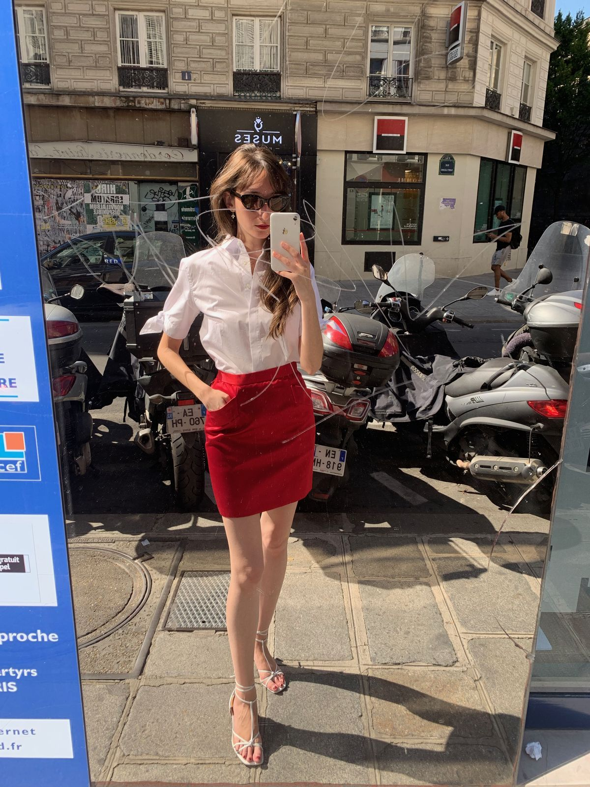 Vintage YSL skirt and Figaret shirt