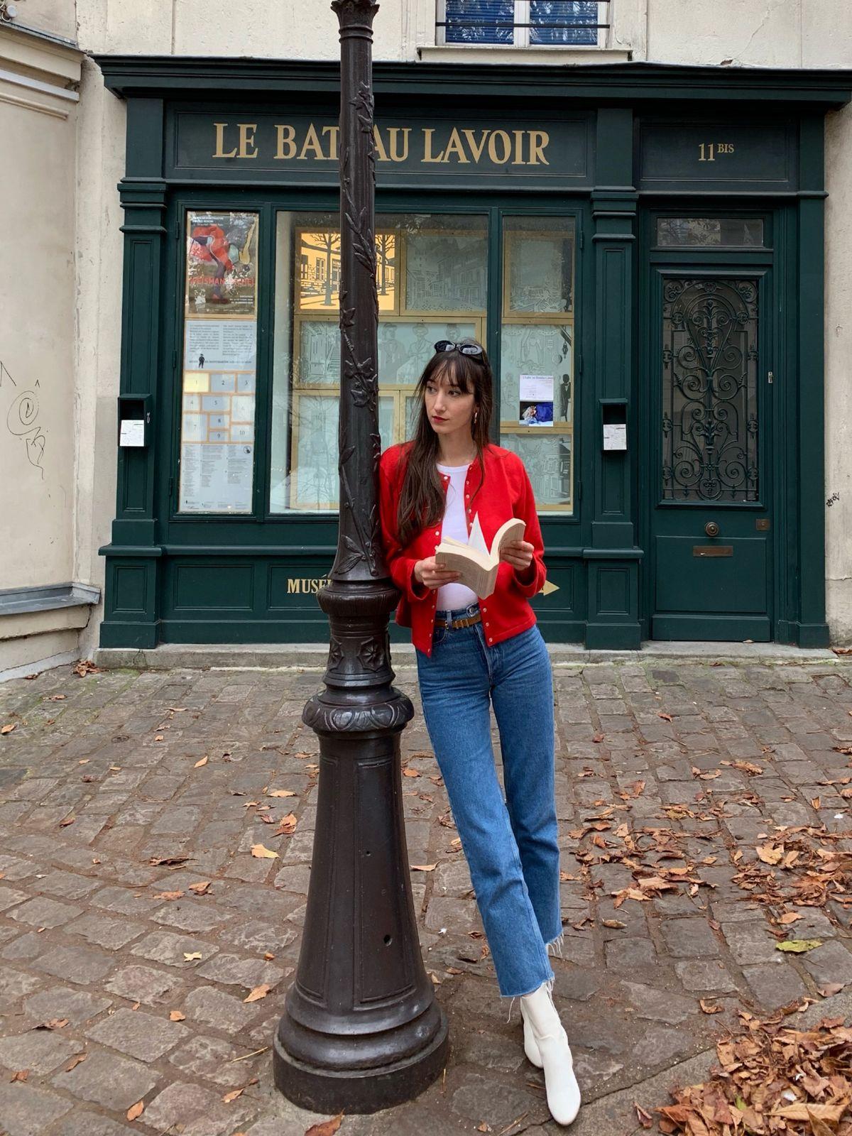 Agnes b Cardigan Pression, Paris, France