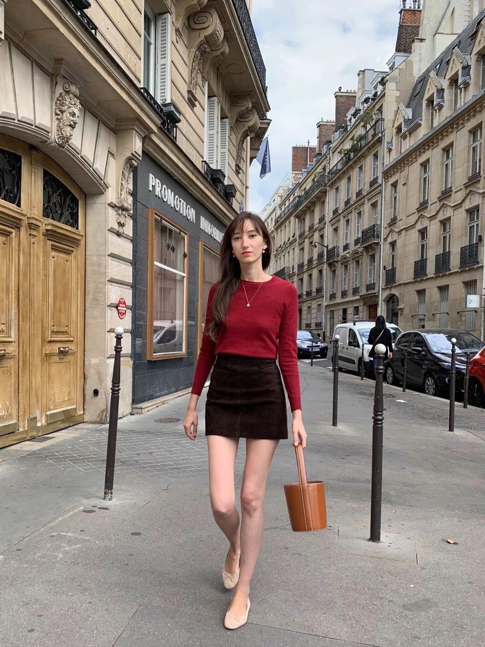 Early Fall Parisian Looks - Staud bag