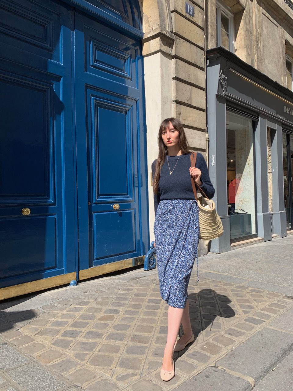 Early Fall Parisian Looks - COS sweater and Petite Chineuse skirt