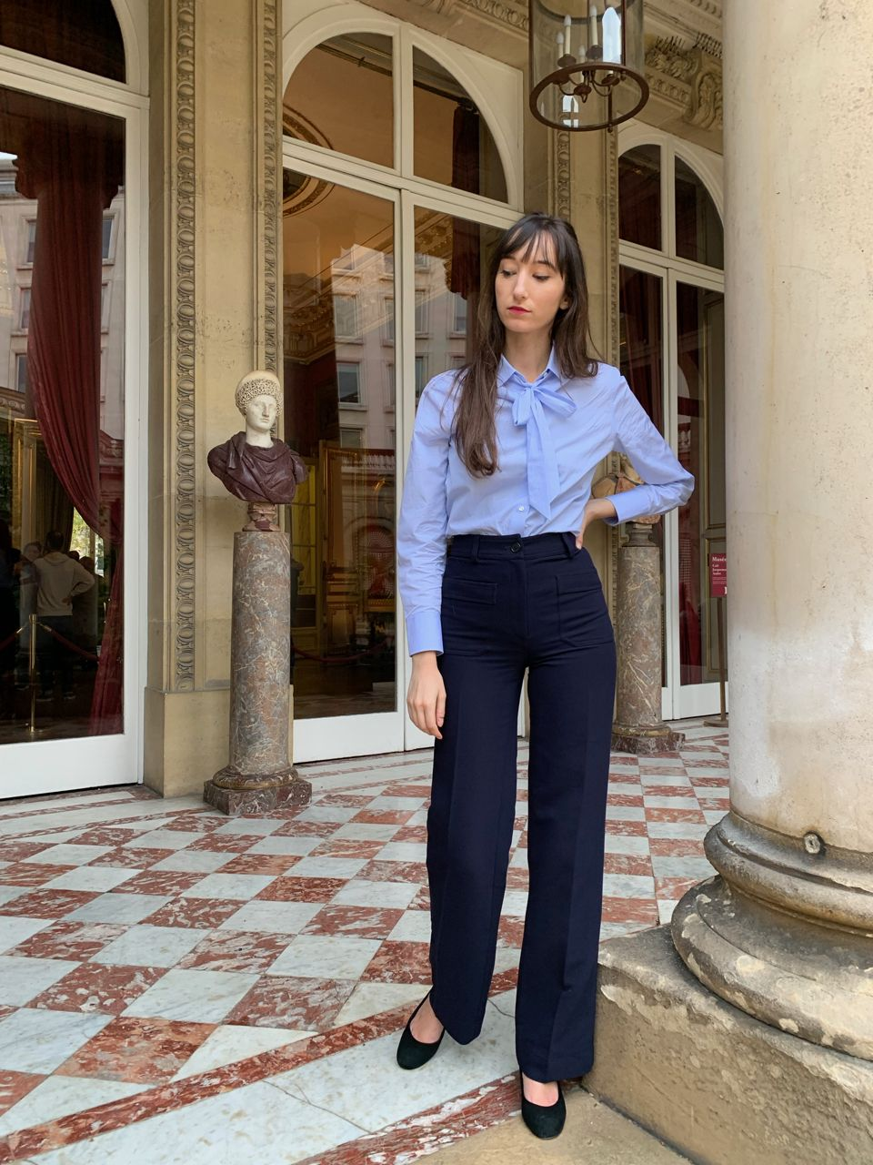 Early Fall Parisian Looks - Figaret top and Nathalie Dumeix pants