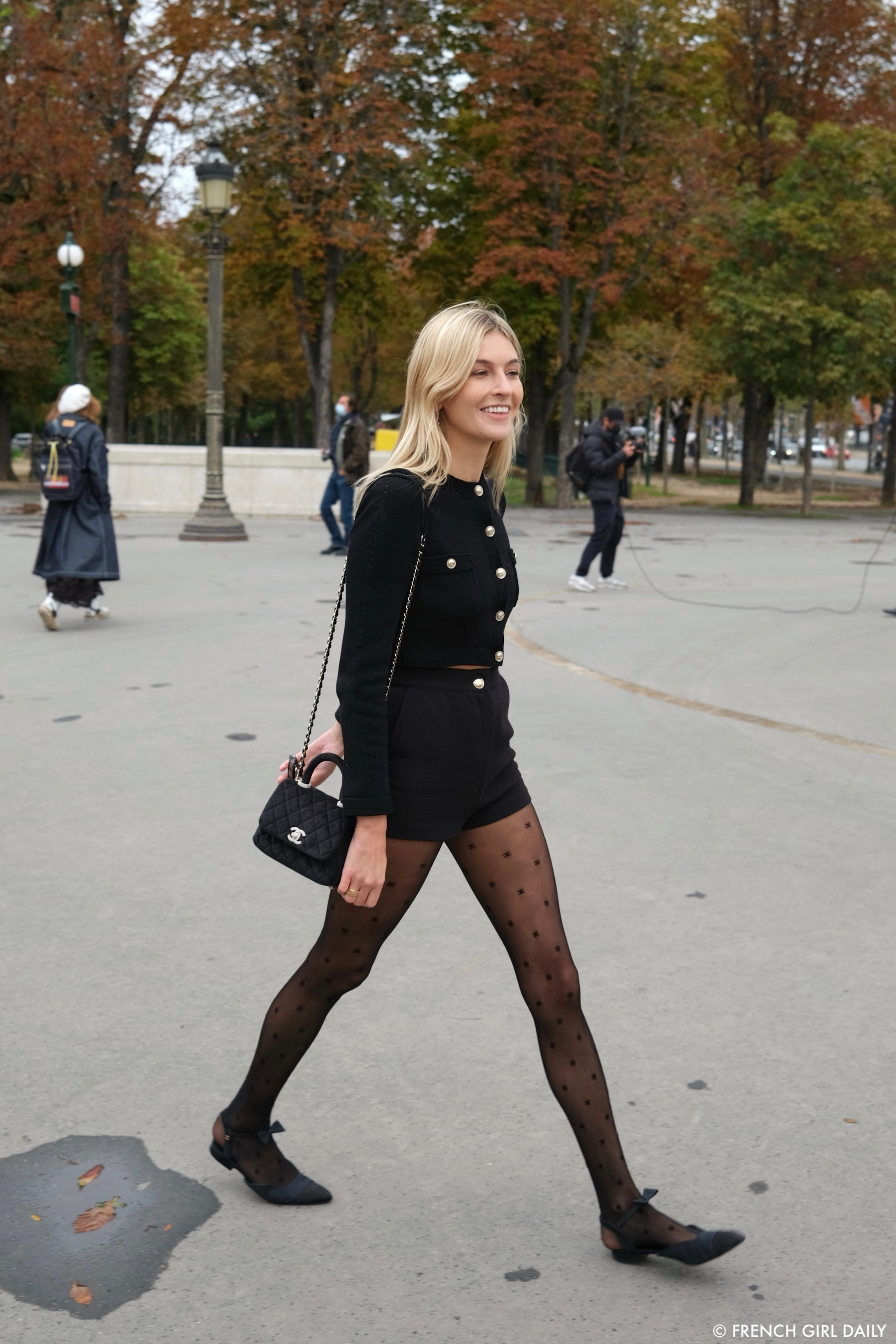 Camille Charrière at the Chanel SS21 Show at the Grand Palais in Paris